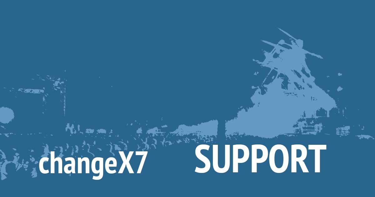 Unterstütze changeX7